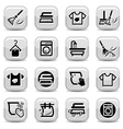 cleaning and washing icons set vector image vector image