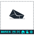 Mail box icon flat vector image