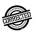 Corrected rubber stamp vector image vector image