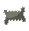 barbed wire section icon image vector image