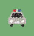 flat icon design collection police car vector image