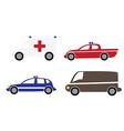 Cartoon cars 3 vector image vector image