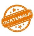 Guatemala grunge icon vector image