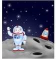 Astronaut landing on the moon vector image