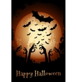 Halloween Poster Grungy Background vector image
