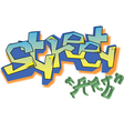 Graffiti street art vector image