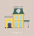 Hand drawn vintage homes vector image