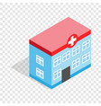 hospital building isometric icon vector image