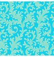 pattern baroque blue vector image