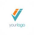 Shape letter i logo vector image