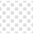 Snowflakes seamless pattern for adult anti stress vector image