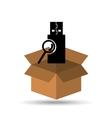 USB search browser icon design vector image