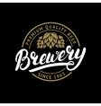 Brewery hand written lettering logo label badge vector image