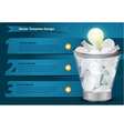 Creative Template with light bulb in the Trash vector image