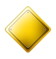 Rhombus safety road sign yellow vector image