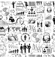 Sketch business seamless vector image