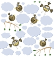 Cartoon birds seamless pattern vector image