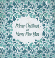 Retro christmas card with seasonal pattern vector image