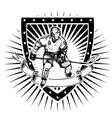 ice hockey shield vector image