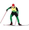 snow skiing vector image vector image