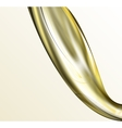 Pouring oil or golden liquid on light background vector image