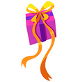 Box of present with yellow ribbon vector image