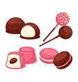 delicious sweet treats made of marshmallow and vector image