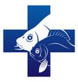 fish veterinary icon vector image