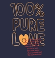 pure love vector image