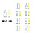 Toilet or restroom logo design vector image