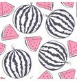 Watermelon stylized seamless pattern vector image
