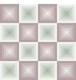 seamless pattern with square brown greenjpg vector image