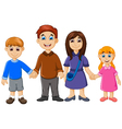 Happy family cartoon for you design vector