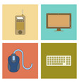 assembly flat icon computer keyboard mouse monitor vector image