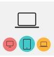 Laptop and monitor icons vector image