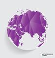 Modern globe design vector image vector image