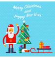 Santa and Tree vector image