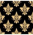 Yellow royal fleur-de-lis seamless pattern vector image