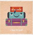 Vintage Web design I love travel banner Vintage vector image