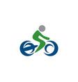 bicycle logo vector image
