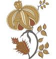 Floral design motif abstract decor vector image
