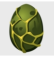 Giant green dinosaur egg cartoon icon vector image