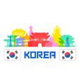 Korea Traval vector image