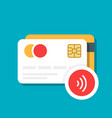 plastic bank or credit card with a wireless vector image