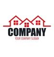 real estate company design vector image