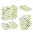 realistic dollar stacks banknotes money vector image
