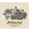 Vineyard sketch Farm agriculture vector image