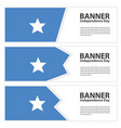 somalia flag banners collection independence day vector image