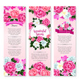 spring holidays floral greeting banner set vector image