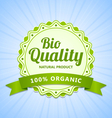 Bio Quality label vector image